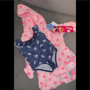 Other - baby girl swimsuit bathing suit with robe